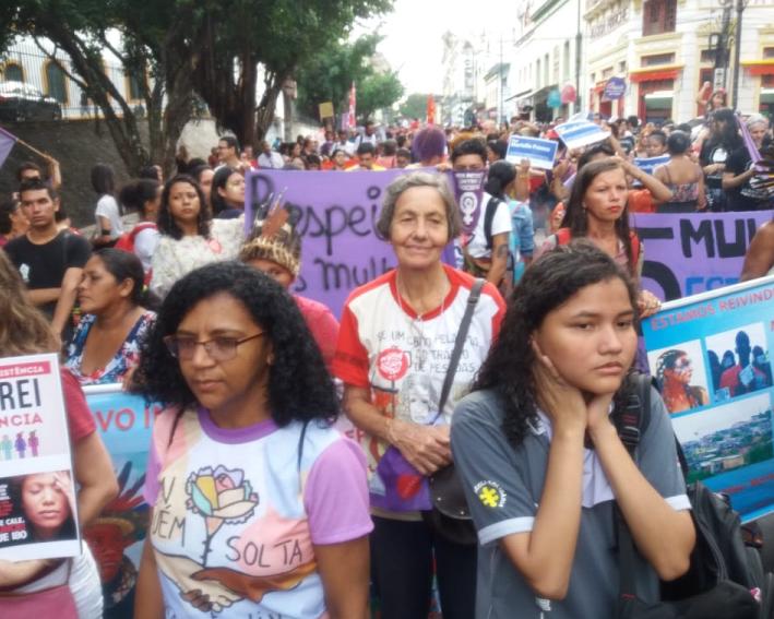 Comunidade Manaús Participando Das Manifestações Sociais Pela Ecologia
