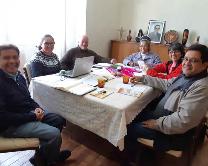 Irmã Susana na reunião com os representantes da vida religiosa de Bolívia