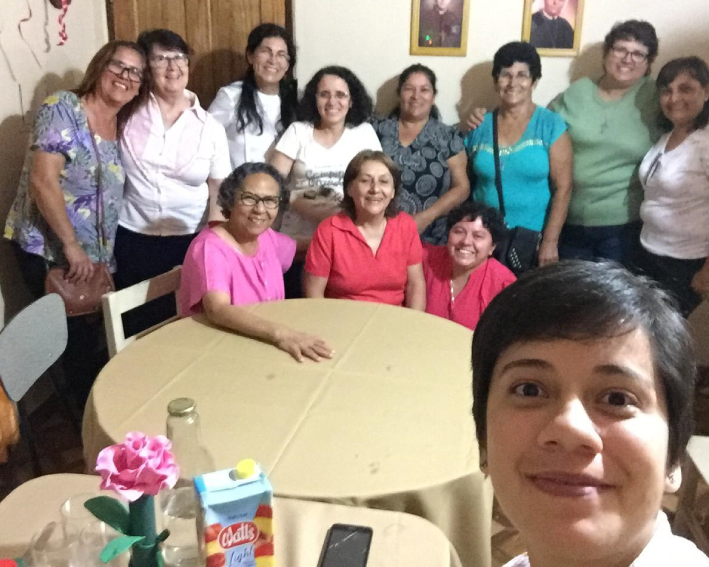 Visita das Irmãs Senhorinha Leite e Rosângela e participação na comemoração do Natal com a AME