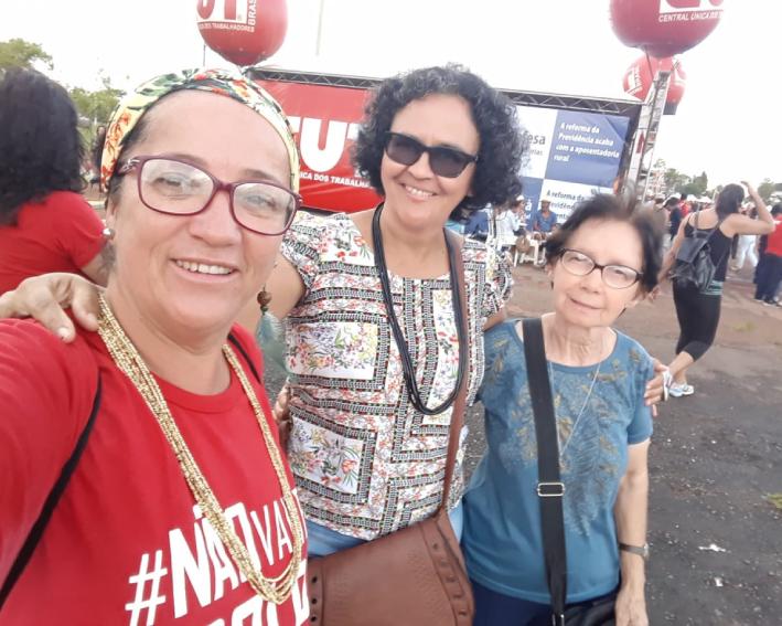 Comunidade do sol nascente participando dos movimentos sociais