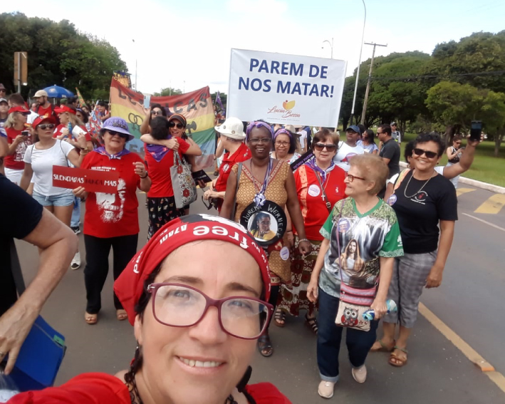 Irmãs de Brasília participando em lutas em favor da vida