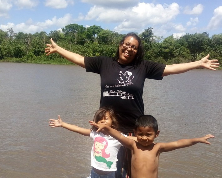 Ir Maria José na missão com os indígenas no Pará